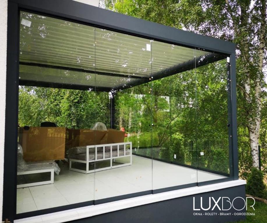 pergole aluminiowe - taras, ogród